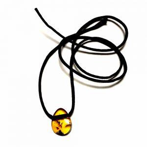 Amuleto de âmbar pingente para adulto mel polido - 60 cm