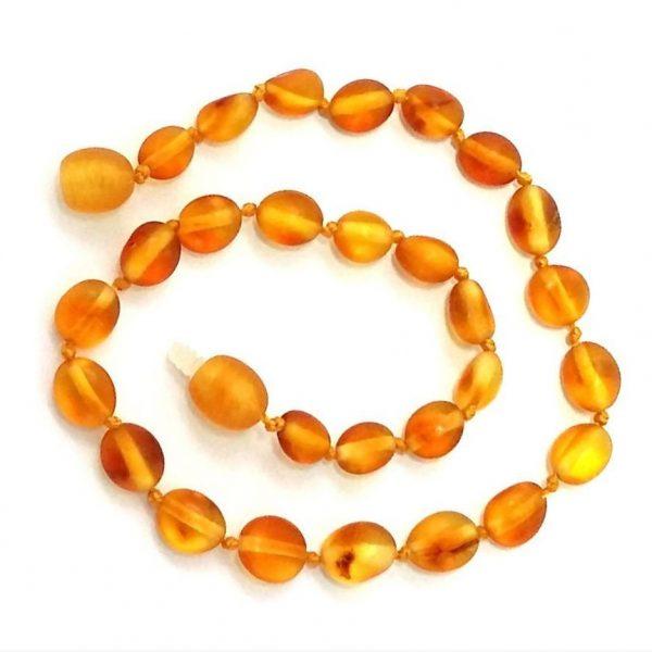 Tornozeleira de âmbar adulto olive mel rústico - 25 cm