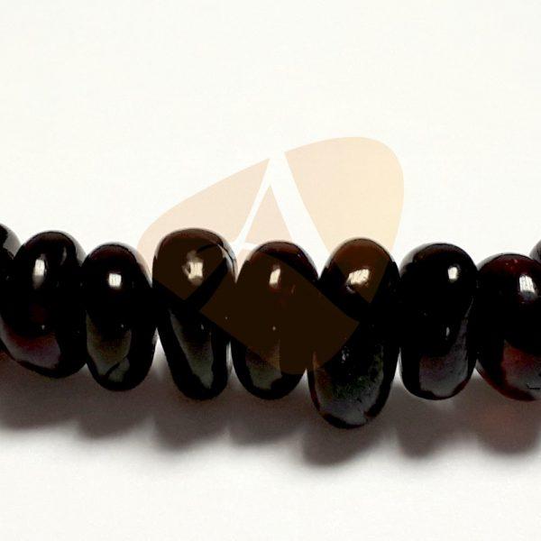 Pulseira de âmbar adulto arredondado cherry polido - 18 cm