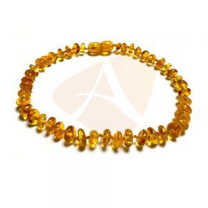 Tornozeleira de âmbar adulto arredondado mel polido - 25 cm