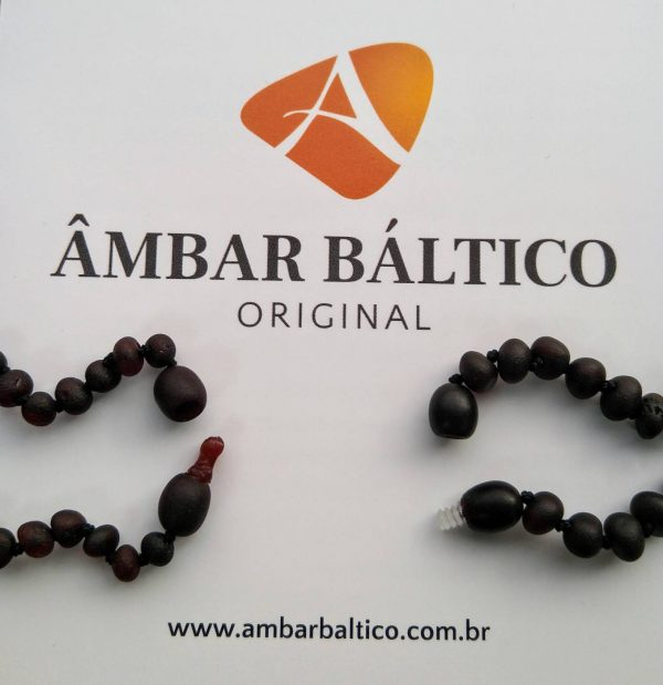 Tornozeleira de âmbar adulto barroco cherry rústico