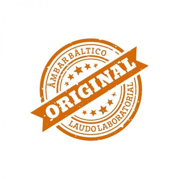 Colar de âmbar criança olive cognac rústico - 38 cm