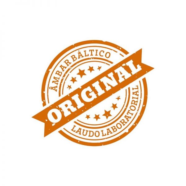 Colar de âmbar adulto arredondado cognac polido - 45 cm